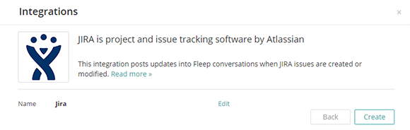 How to create a new JIRA webhook in Fleep
