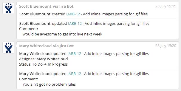 JIRa integration in Fleep
