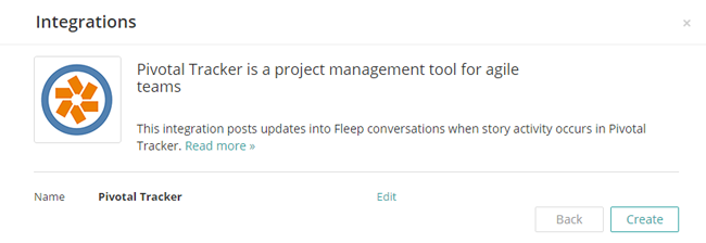 How to create a new Pivotal Tracker webhook in Fleep