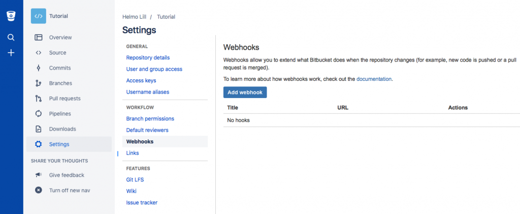 Bitbucket integration
