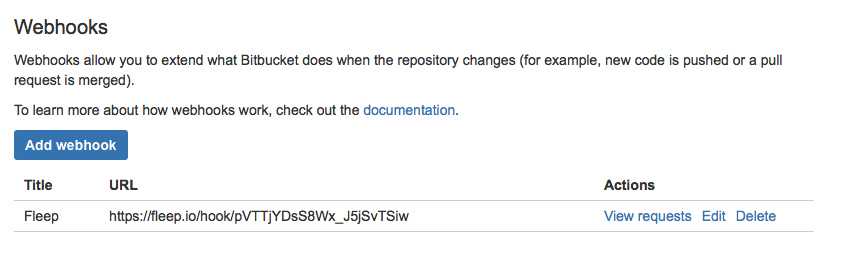 bitbucket integration done
