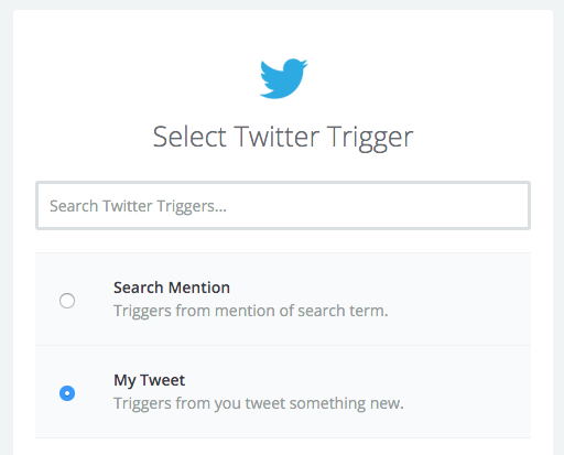 Twitter trigger