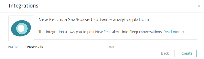How to create a New Relic webhook in Fleep