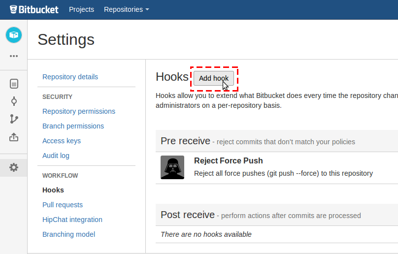 how to add project to bitbucket