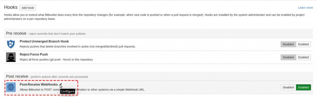 8 select post-receive webhooks