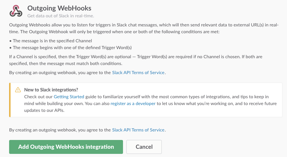 add outgoing webhooks
