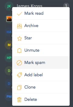 mark spam fleep