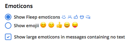 Emoticons preferences