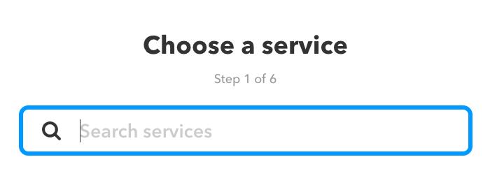 Choose service IFTTT